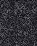 Scroll Swirls - Kona Bay Fabrics BCAR06 - Black