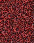 Scroll Swirls - Kona Bay Fabrics BCAR06 - Red