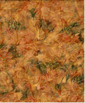 Pine Twigs - Wilmington Batiks 22042-827 - Gold/Green