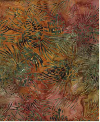 Pine Cones - Wilmington Batiks 22041-873 - Rust/Green