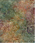 Wildflower Swirls - Wilmington Batiks 22056 - 735 - Green/Rust