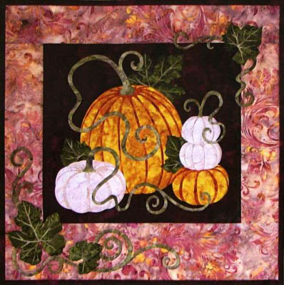 Pumpkin Patch Applique Wall Hanging Pattern - Wildfire Designs Alaska