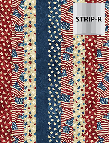 Stonehenge Old Glory - Northcott 39336-49 - Strip-R