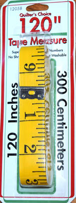 Quilters Choice 120-inch Fiberglass Tape Measure