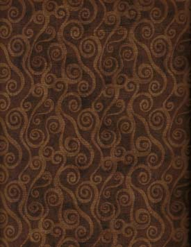 Essentials  Swirly Scroll Wide Backing - Wilmington 2078-229 - Brown