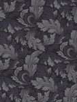 Basic Blacks & Beiges - Twirling Leaves  - Benartex 6123-99 - Black