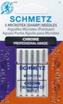 Schmetz Microtex Needles - 80/10 Chrome - Schmetz 4030 -