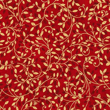 Holiday Flourish 10 - Kaufman 16558-91 - Crimson