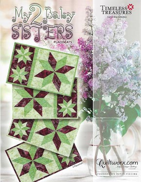 Judy Niemeyer - My 2 Baby Sisters Placemat Pattern