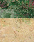 Green and Beige - Batik One-Yard Cuts