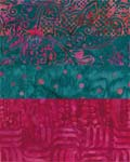 Turquoise and Deep Rose - Batik One-Yard Cuts